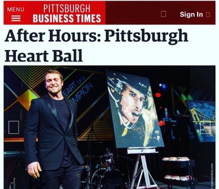 Cody Sabol at the Pittsburgh Heart Ball